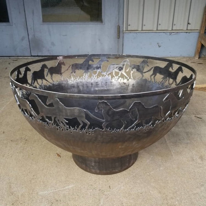 Wild Horses Wood Burning Fire Bowl