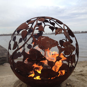 Fish Wood Burning Fireball