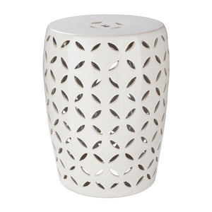 Chantilly Garden Stool by Surya in Ivory