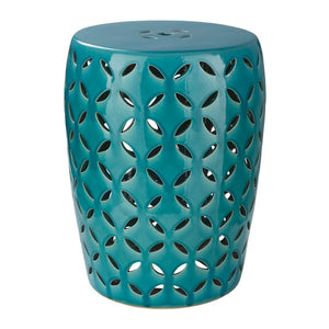 Chantilly Garden Stool by Surya in Teal