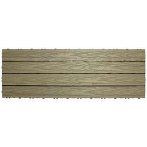 UltraShield Naturale Composite Deck Tile | 1 ft. x 3 ft. | Roman Antique