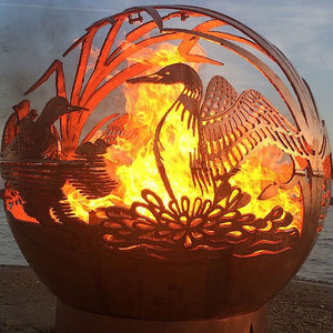 Dancing Loons Wood Burning Fireball