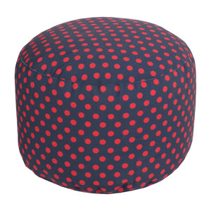 Polka Dot Outdoor Pouf | Surya SKU POUF-294