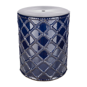Gaylor Garden Stool by Surya in Navy