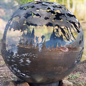 West Coast Wood Burning Fire Sphere