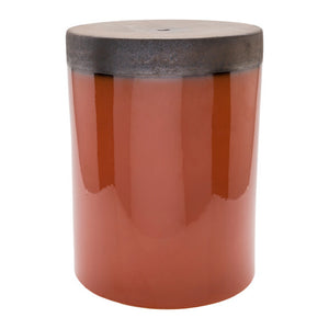 Surya Palominas Garden Stool - Burnt Orange