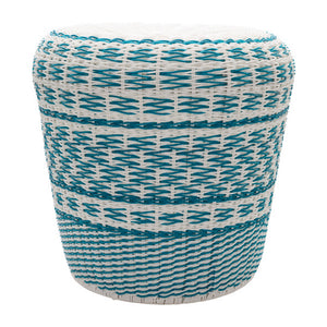 Parkdale Garden Stool by Surya in Sky Blue