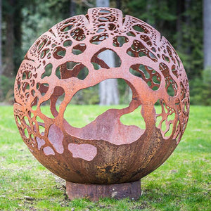 Coral Dome Wood Burning Fire Sphere