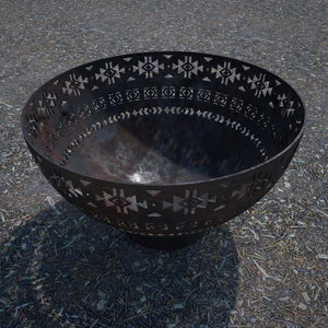 Aztec Wood Burning Fire Bowl
