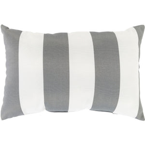 Gray & White Poolhouse Lumbar Pillow | Surya PLH-002