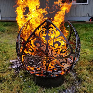 Royal Bloom Wood Burning Fire Sphere