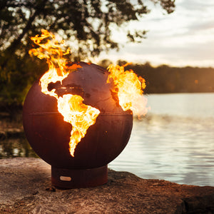 Third Rock Wood Burning Fire Sphere