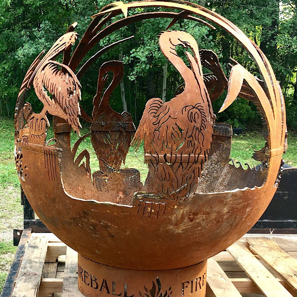 Pelican Wood Burning Fireball