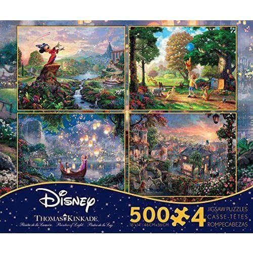 Disney - Fantasia, Lady and the Tramp, Tangled and Winnie the Pooh - Puzzle Collection