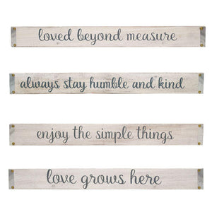 Willow Street - Inspirational Sayings Wall Signs- Set of 4