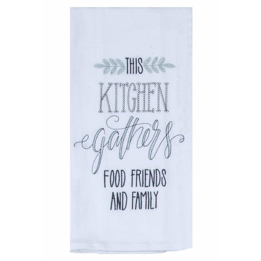 Kay Dee Designs - This Kitchen Gathers -  Embroidered Flour Sack Towel
