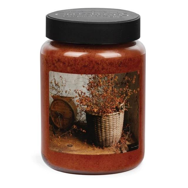 Crossroads - Wicker Basket Orange Clove Scented - Jar Candle