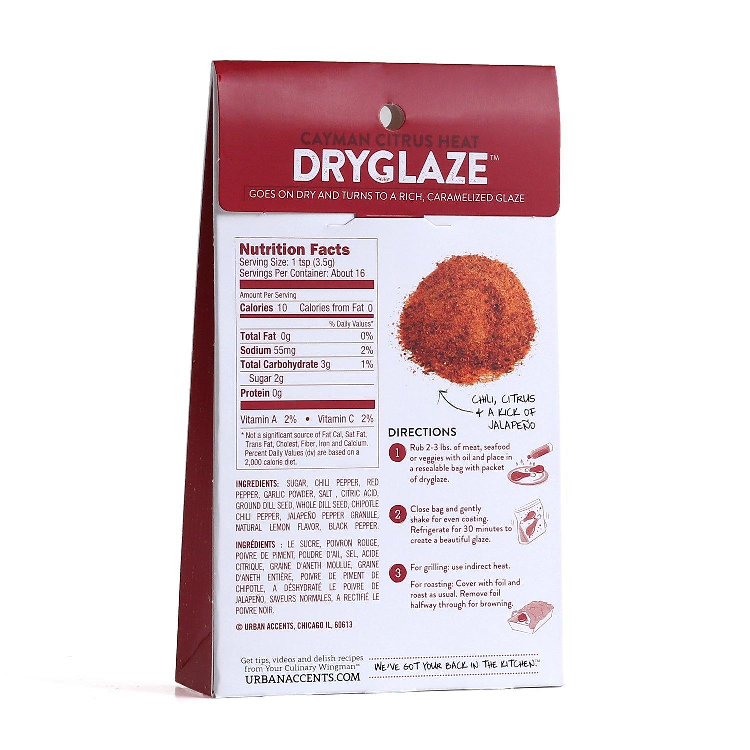 Urban Accents - Cayman Citrus Heat - Dryglaze Seasoning Blend