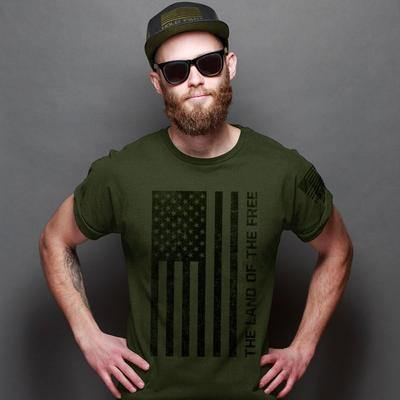 Kerusso-Hold Fast  Freedom Flag- T Shirt