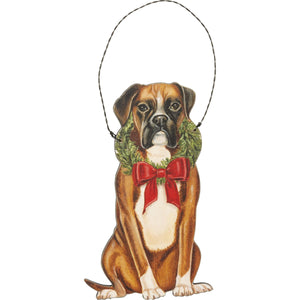 Primitives  By Kathy - Christmas Boxer - Ornament