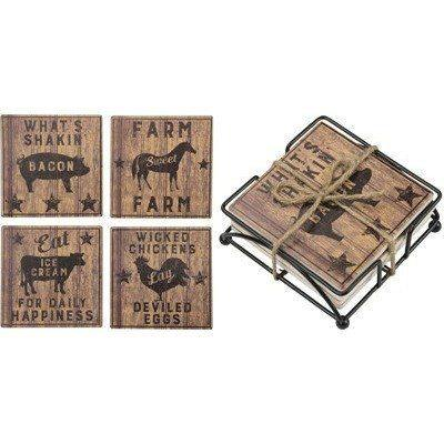 Primitives By Kathy - Farmhouse - Coaster Set