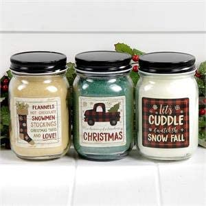 Crossroads - Buffalo Plaid - Jar Candles  Set of 3