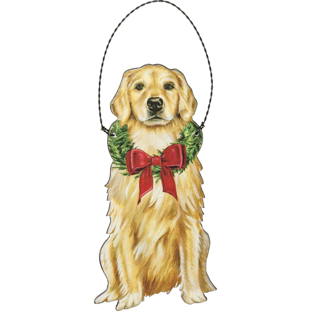 Primitive By Kathy - Golden Retriever - Christmas Ornament