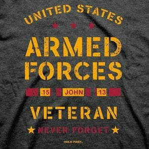 Kerusso-Hold Fast United States Military Veteran-T-Shirt
