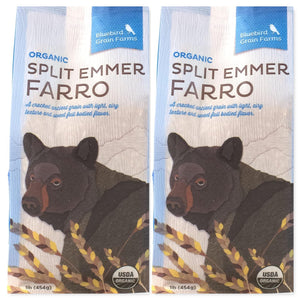 Bluebird Grain Farms - Organic Split Emmer Farro -  2Pk