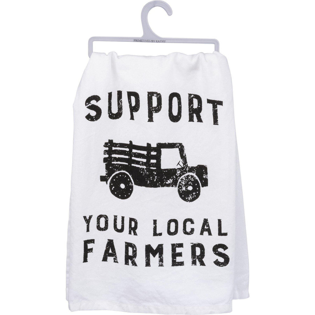 Primitives By Kathy -Support Your Local Farmers - Dish Towel