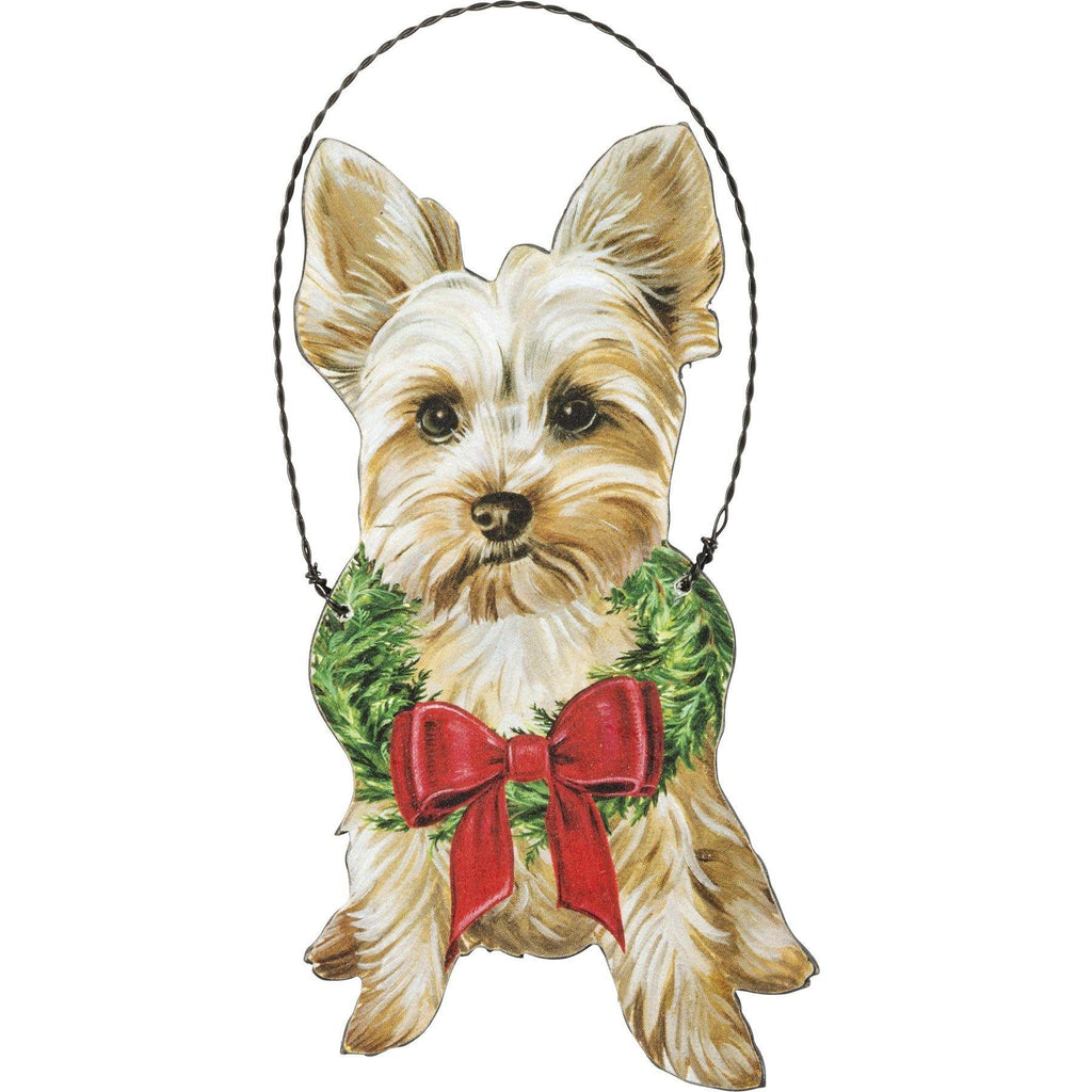 Primitives By Kathy - Christmas Yorkie - Ornament