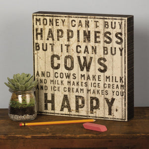 Primitives By Kathy - Buy Cows - Box Sign