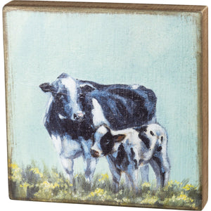Primitives By Kathy-Cow and Calf-Box Sign