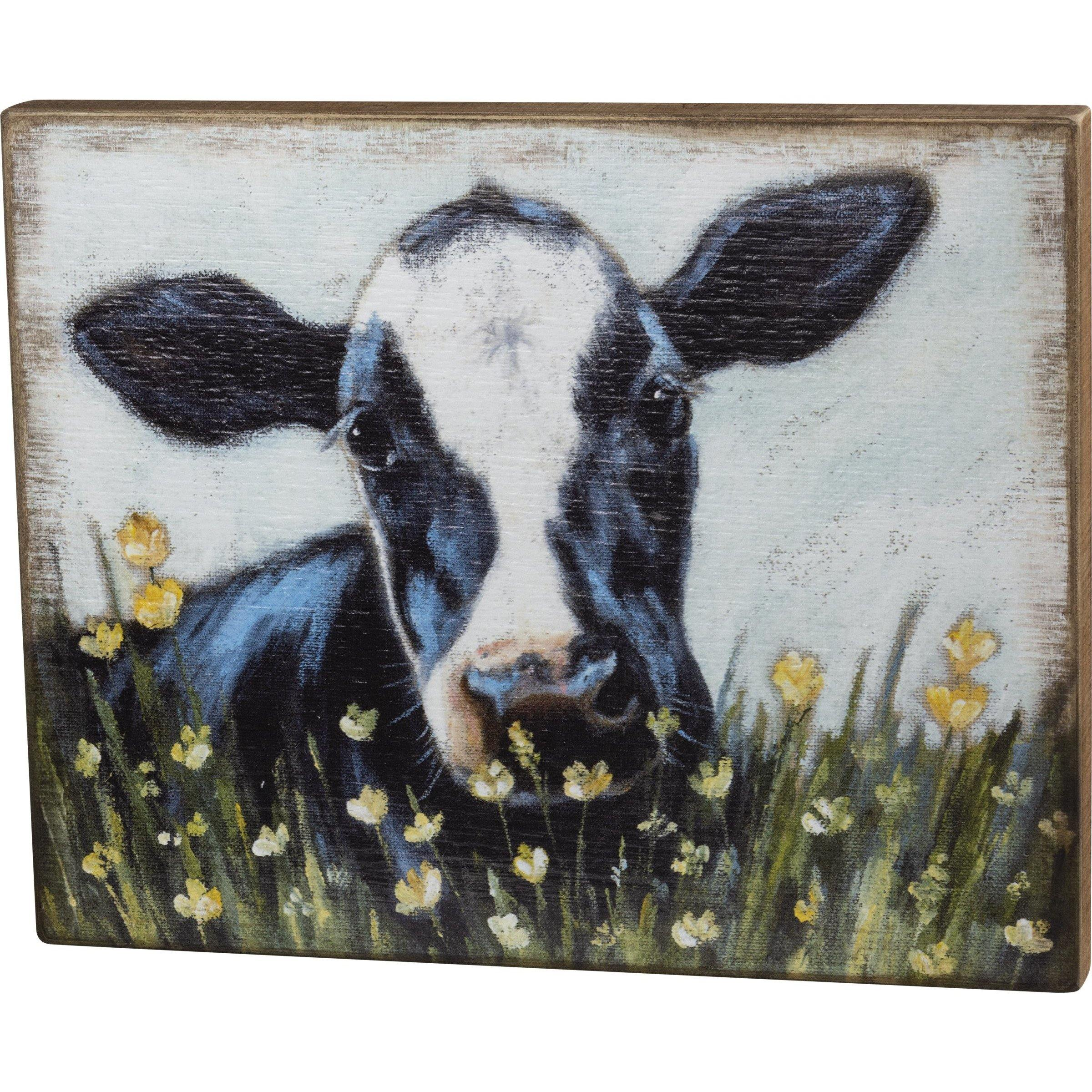 Primitives By Kathy-Cow in Field-Box Sign