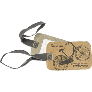Primitives By Kathy - Let's Go - Luggage Tag