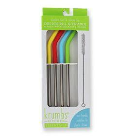 Krumbs Kitchen-Reusable Drinking Straws-4Pk