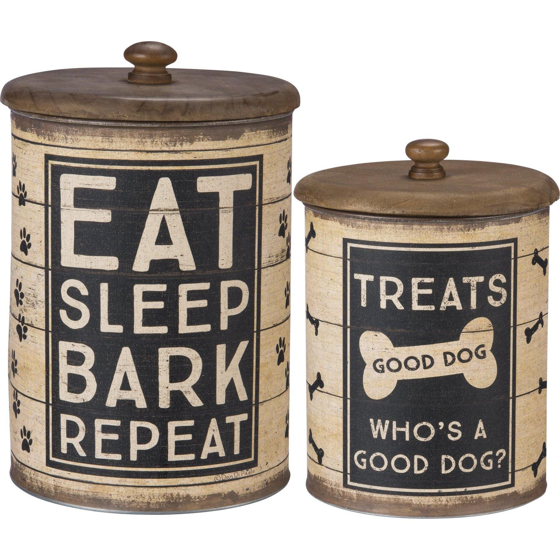 Primitives By Kathy - Good Dog Treats - Canister Set