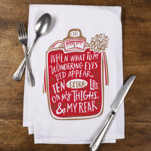 Primitives By Kathy-What To Wondering Eyes-Dish Towel