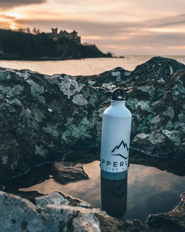 White Upperlayer aluminium water bottle - upperlayer-clothing.myshopify.com