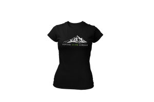Open image in slideshow, Upperlayer Womens 'Explore-Climb-Conquer' large mountain Softstyle tshirt
