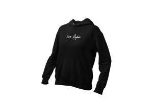 Open image in slideshow, Women's Upperlayer hoodie with Handwritten Live higher font