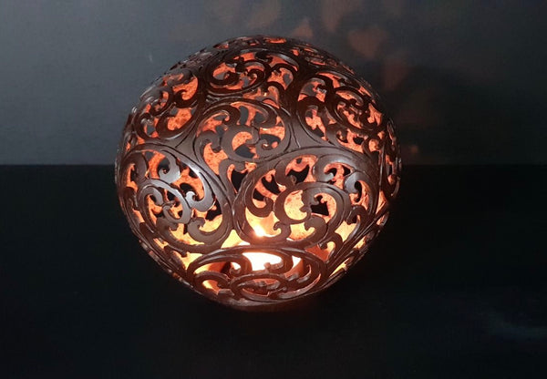 Handmade Coconut Shell Carving (Bali-Chinese Aesthetics)