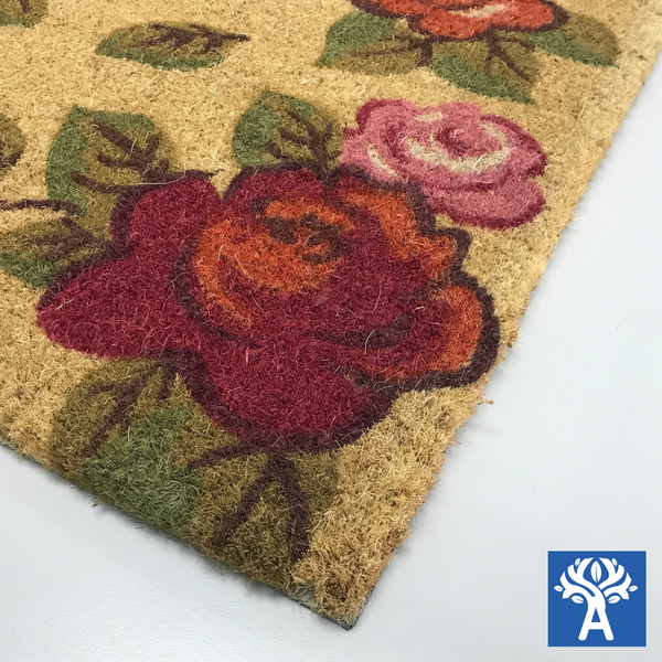Coir Mats with Assorted Design and PVC Backing 45x75cm