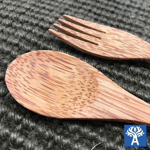 Coconut Wood Fork and Spoon
