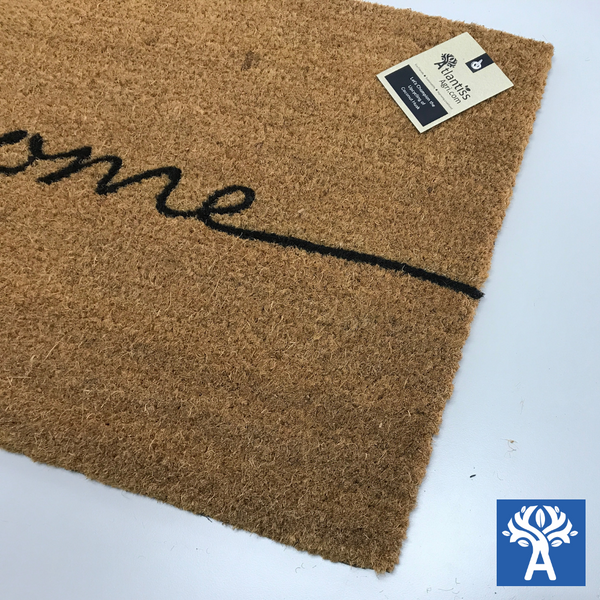 Designer Coir Mats (Welcome) PVC Backing 45x85cm