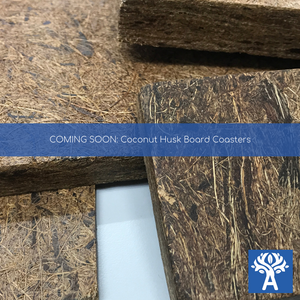 Coconut Husk Hardboard Coaster (Coming Soon)