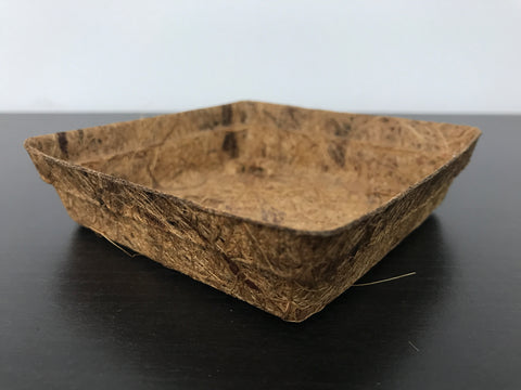 Biodegradable Round Coir Tray (Small 10.5cm x 10.5cm, Height 2.5cm)