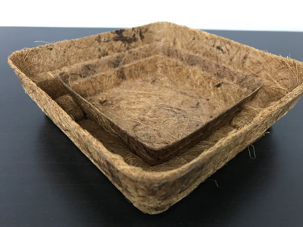 Biodegradable Round Coir Tray (Small 15cm x 15cm, Height 4.5cm)