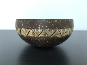 Coconut Bowl Tribal Design 1 (Handcrafted with Love)