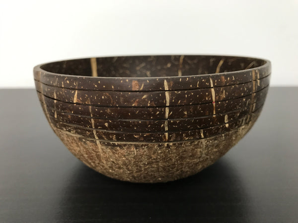 Coconut Bowl Tribal Design 3 (Handcrafted with Love)